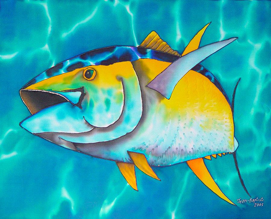 Yellowfin Tuna Painting - Tuna by Daniel Jean-Baptiste