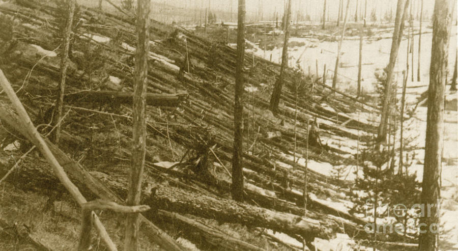 1908 Photograph - Tunguska Event, 1908 by Science Source