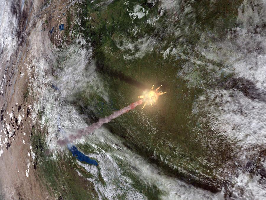 Earth Photograph - Tunguska Event by Joe Tucciarone