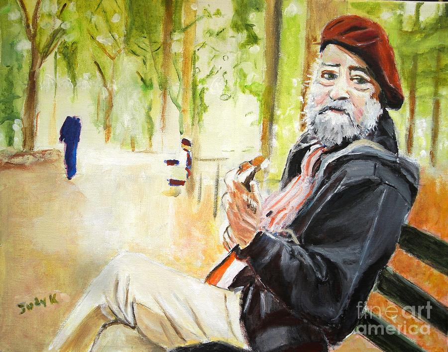 Music Painting - Tuning In by Judy Kay