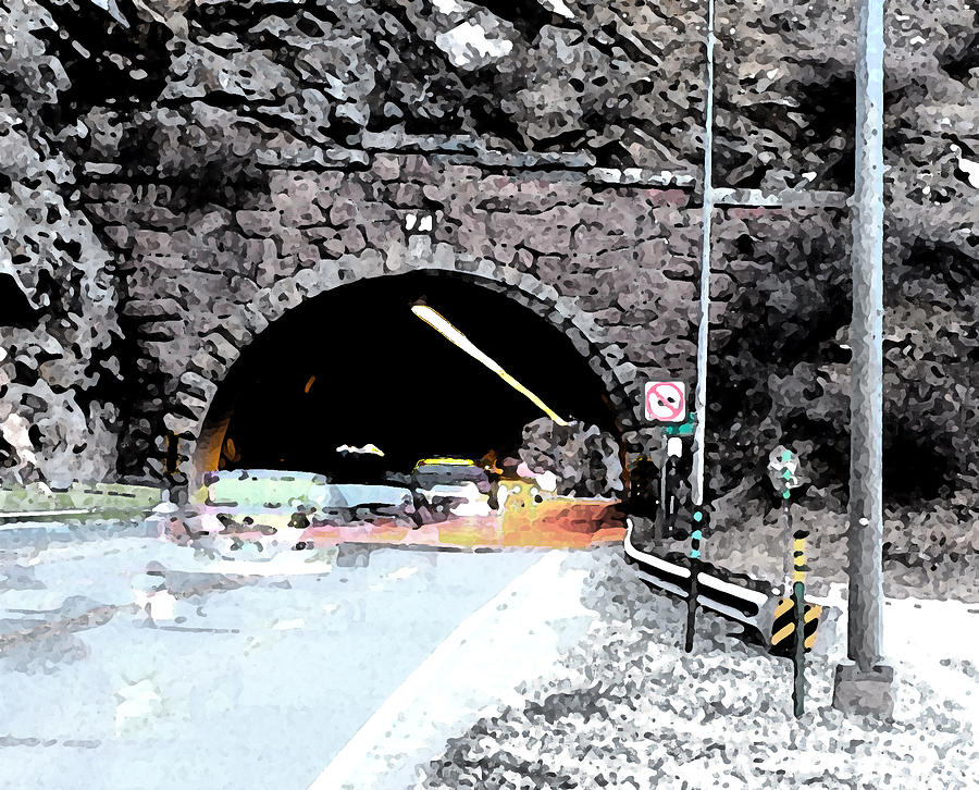 Abstract Digital Art - Tunnel 1 Clear Creek Canyon by Bill Kennedy