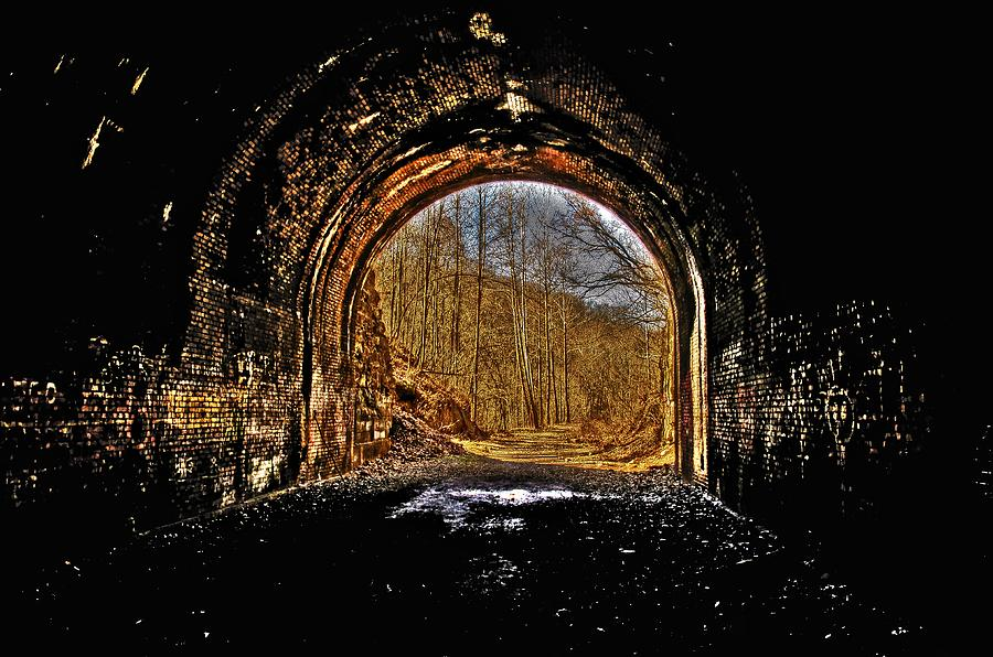 Tunnel Photograph - Tunnel Of Gold by Shirley Tinkham