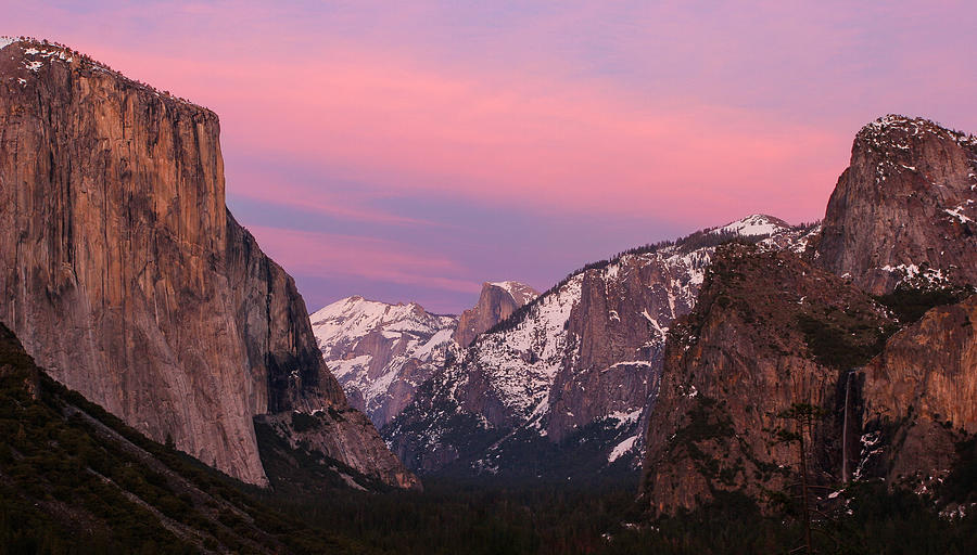 Landscape Photograph - Tunnel View Twilight by Adam Pender
