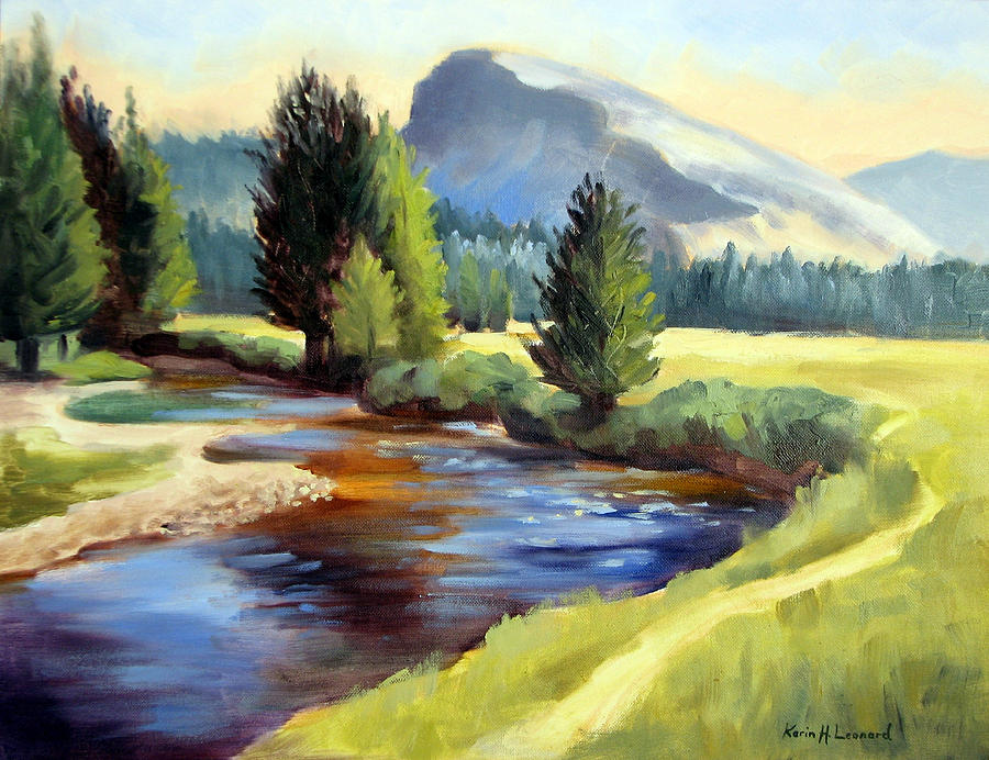 Tuolomne Meadows Painting by Karin Leonard