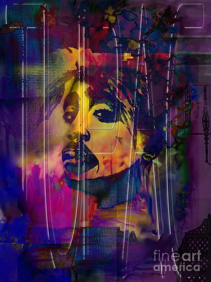 Tupac Mixed Media - Tupac by Christine Mayfield