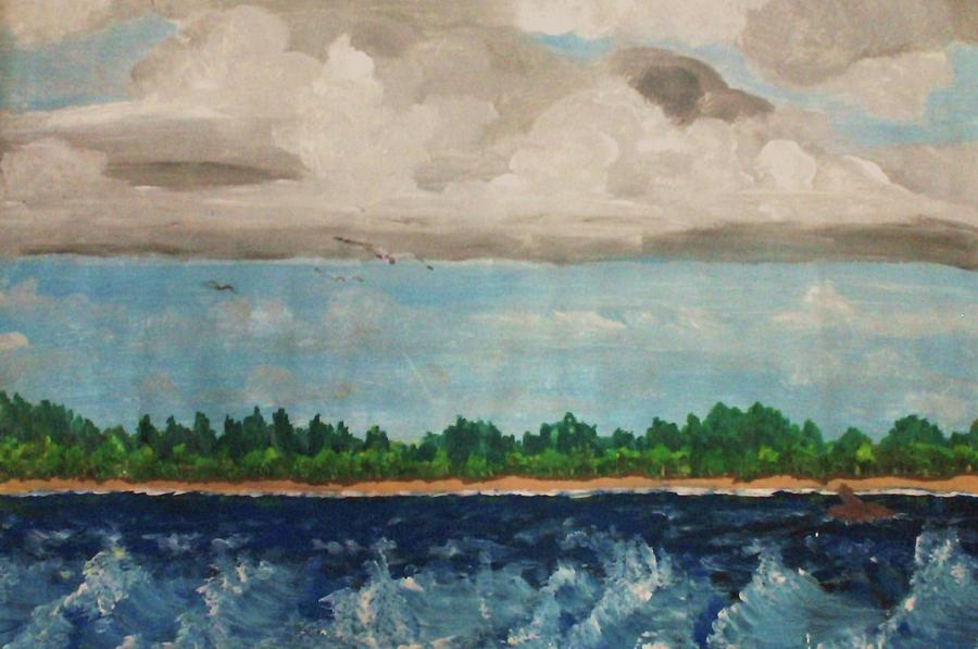 Lake Painting - Turbulent by Jeanette Stewart