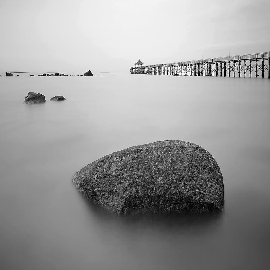 Square Photograph - Turi Beach, Batam, Indonesia by Cheoh Wee Keat