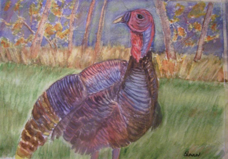 Landscape Painting - Turkey Call by Belinda Lawson