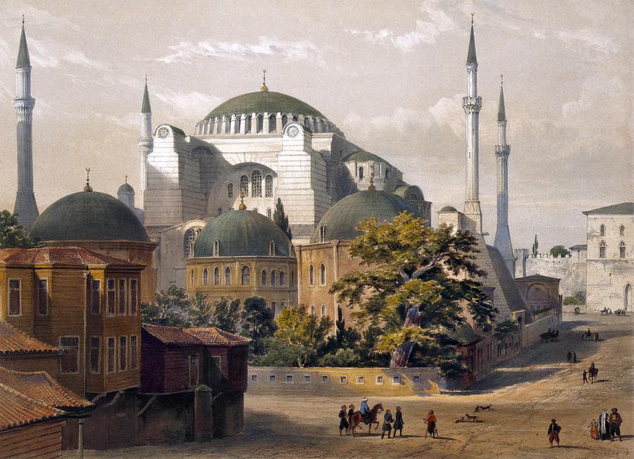 1852 Photograph - Turkey: Hagia Sophia, 1852 by Granger