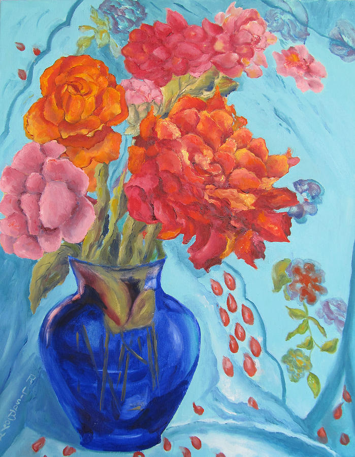 Still Life Painting - Turquoise Delight by Lisa Boyd