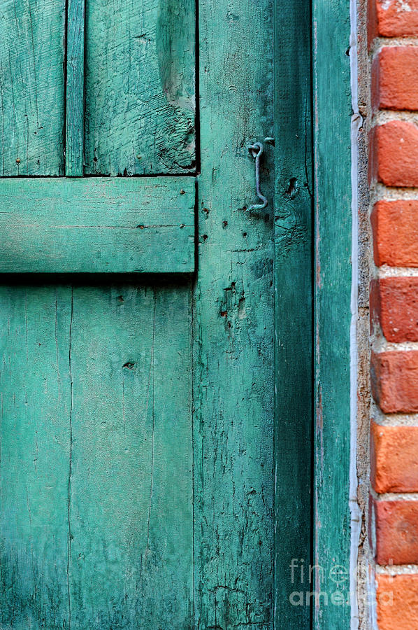 Turquoise Photograph   Turquoise Door By HD Connelly