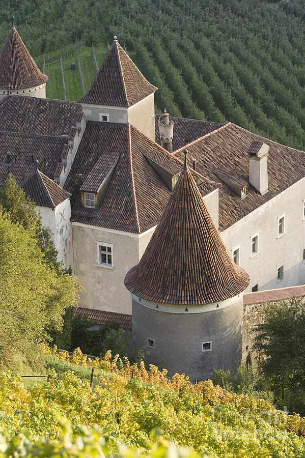 Adige Photograph - Turrets Schloss Goldrain by Alex Rowbotham