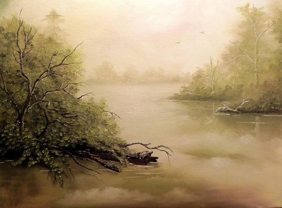 Landscape Painting - Turtle Cove by Laura Brown