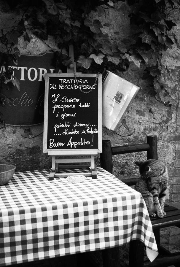 Tuscany Photograph - Tuscan Cafe Diner by Andrew Soundarajan