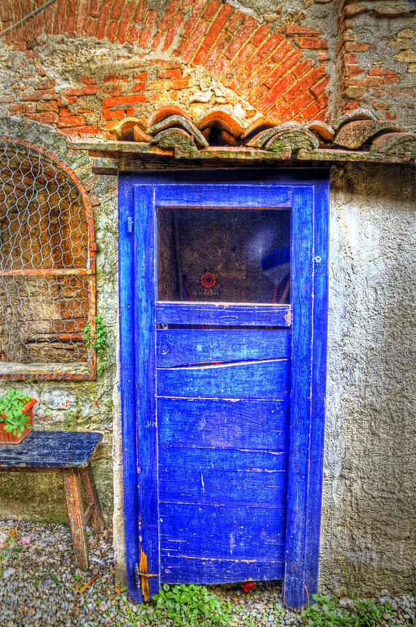 Background Photograph - Tuscan Door 3 by Eggers Photography & Tuscan Door 3 Photograph by Eggers Photography