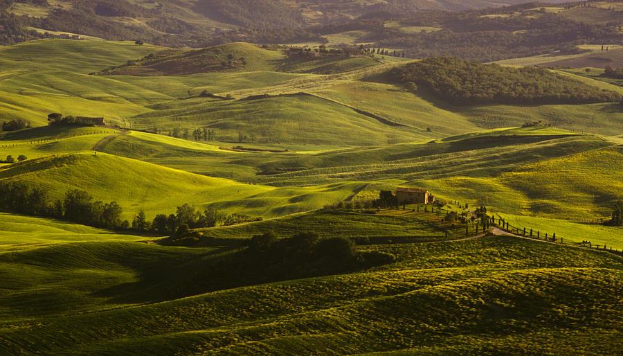 Farm Photograph - Tuscan Hills by Andrew Soundarajan