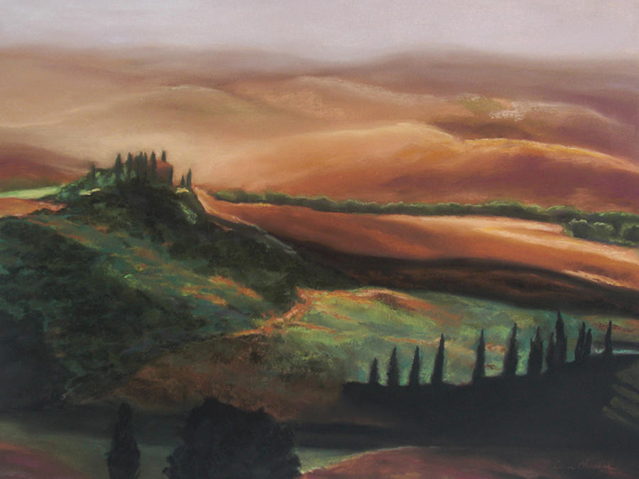 Italy Painting - Tuscan Hills by Elise Okrend