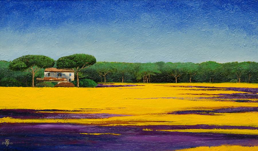 Colorful Painting - Tuscan Landcape by Trevor Neal