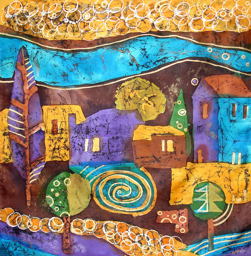 Tuscan Tapestry - Textile - Tuscan Landscape by Sandra Kern