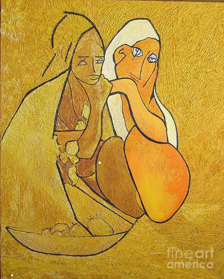 Tutu - Tu-two  Painting by Geoffrey Mann