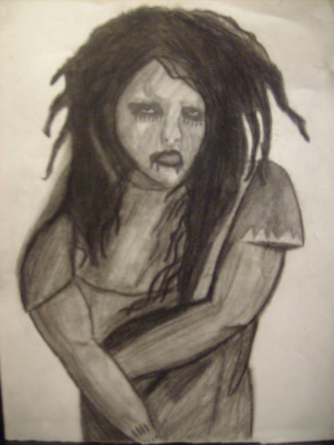 Twiggy Drawing - Twiggy by Brittney Wallace