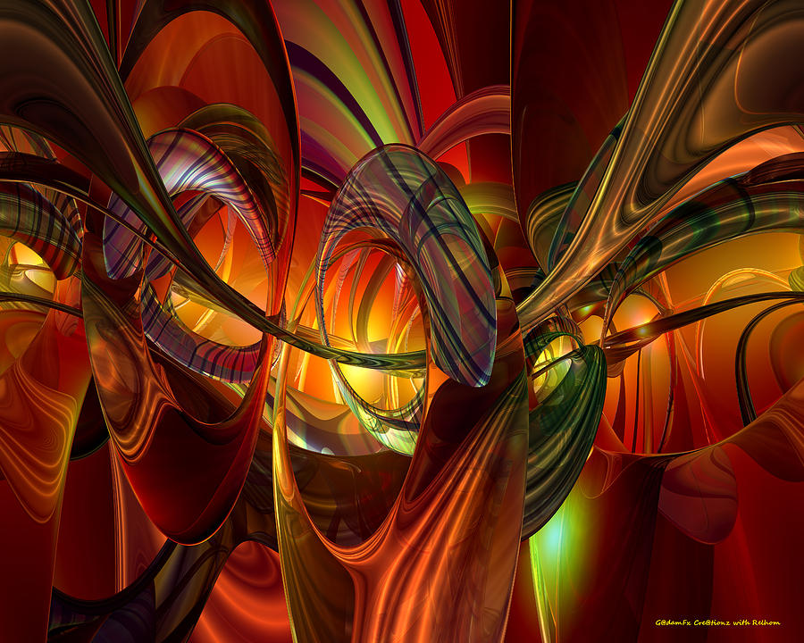 Print Digital Art - Twilight Abstract Fx  by G Adam Orosco