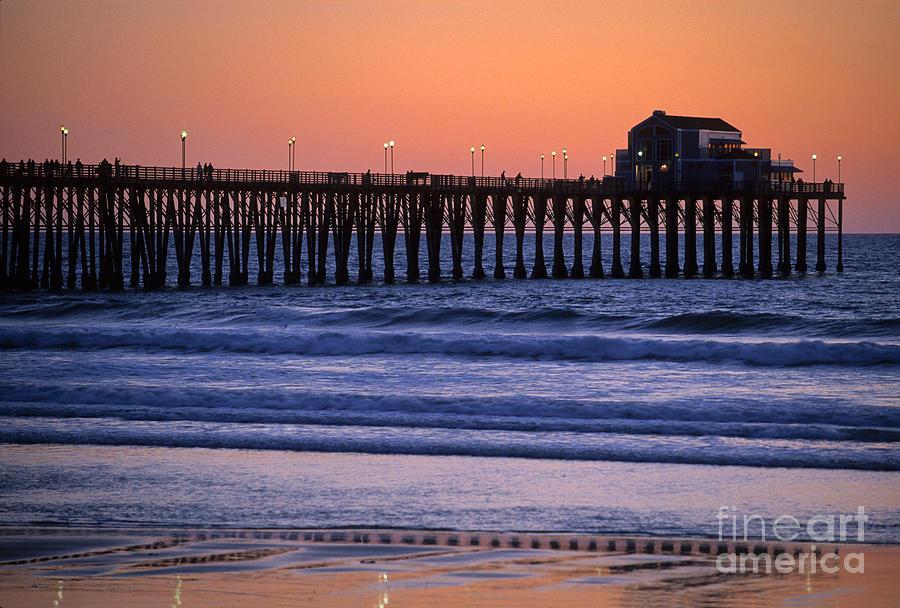 Bronstein Photograph - Twilight At Imperial Pier by Sandra Bronstein