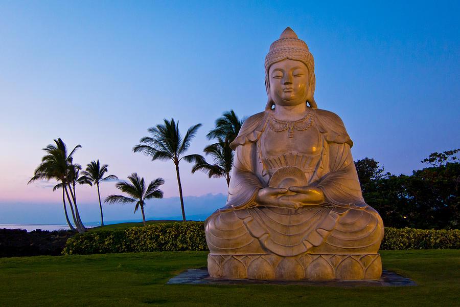 Buddha Photograph - Twilight Buddha by Adam Pender