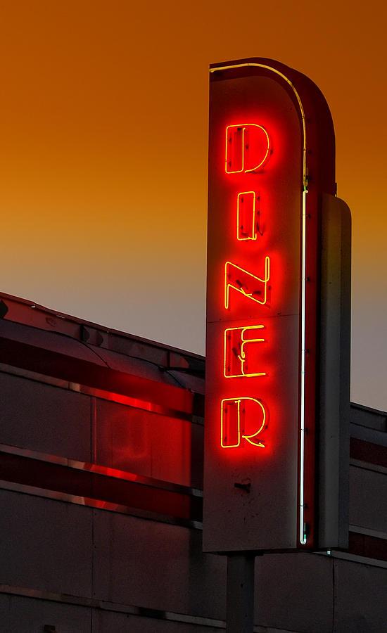 Diner Photograph - Twilight Diner by Brian Mollenkopf