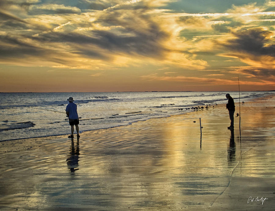 Beach Photograph - Twilight Fishing by Phill Doherty