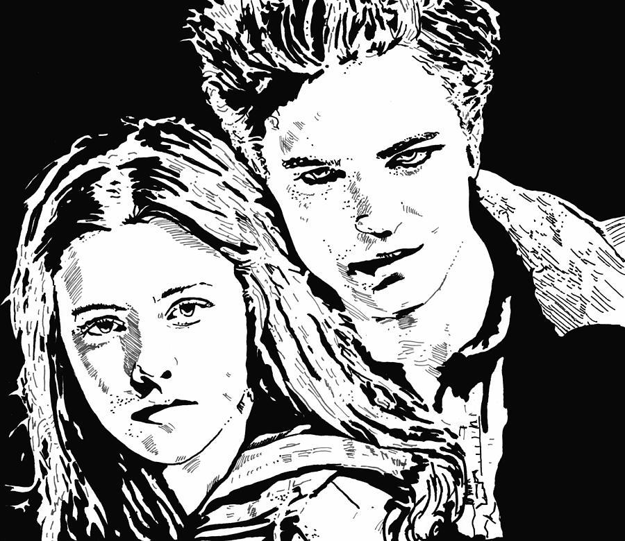 Vampires Drawing - Twilight by Lori Jackson