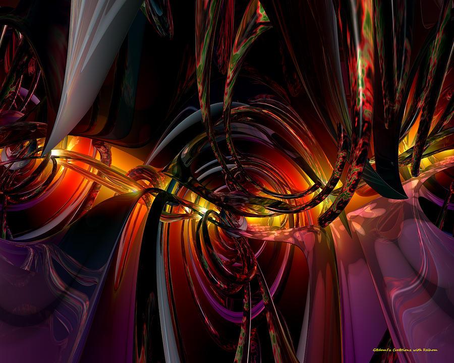 Metal Digital Art - Twilight N Abstract Monster Fx  by G Adam Orosco