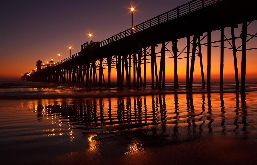 California Photograph - Twilight Night Lights by Donna Pagakis