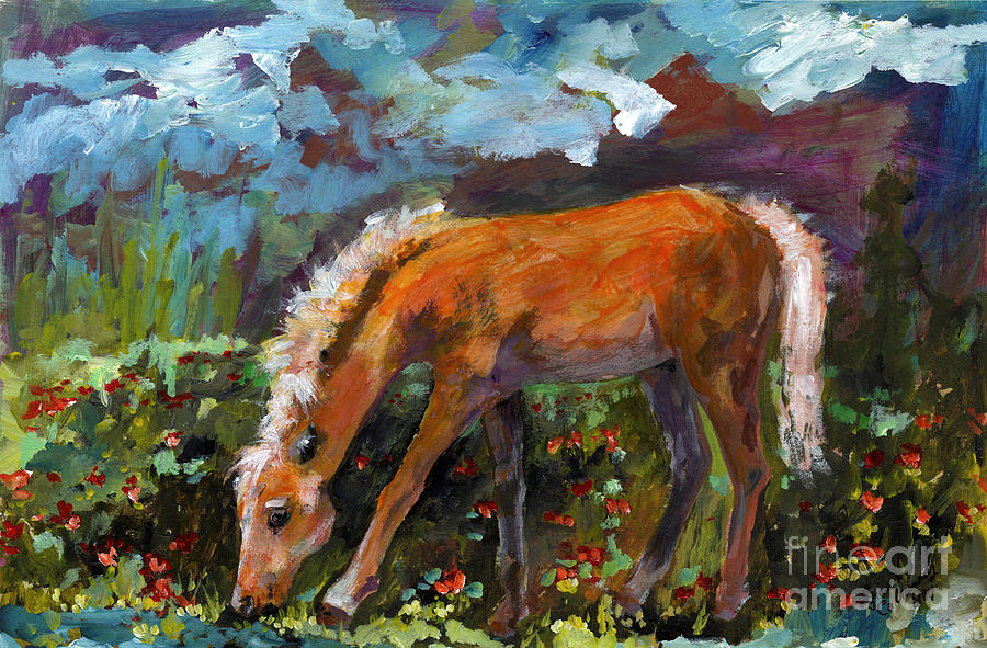 Horses Painting - Twilight Pony In Protest Of H.r. 2112 Painting by Ginette Callaway