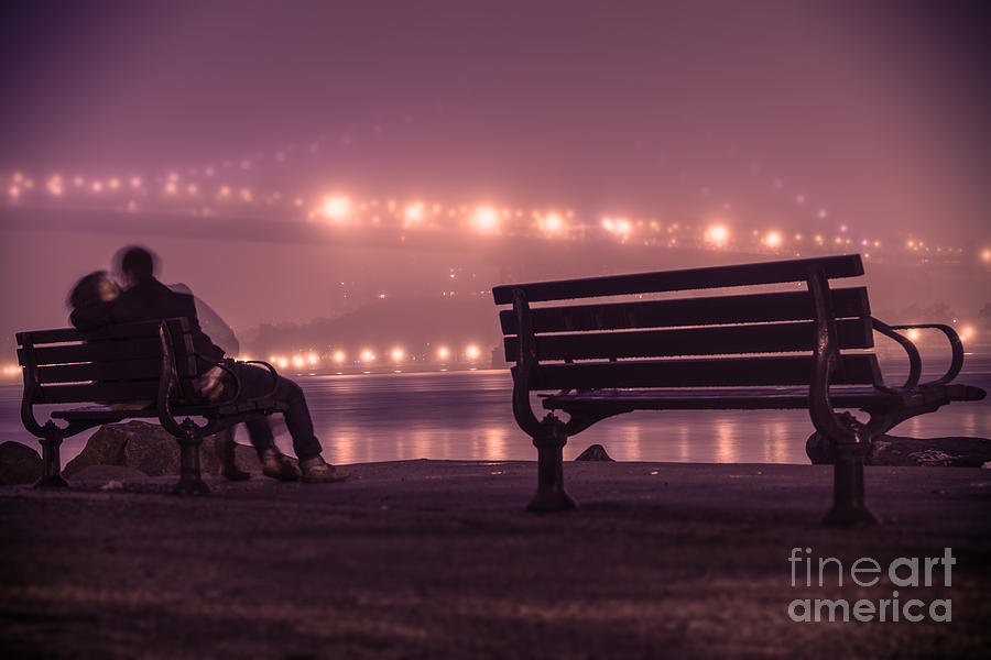 Williamsburg Bridge Digital Art - Twilight Romance by AHcreatrix