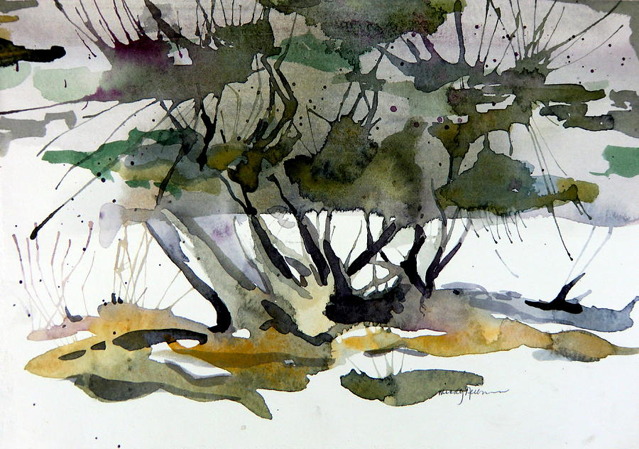 Tree Painting - Twilight Tree by Mindy Newman