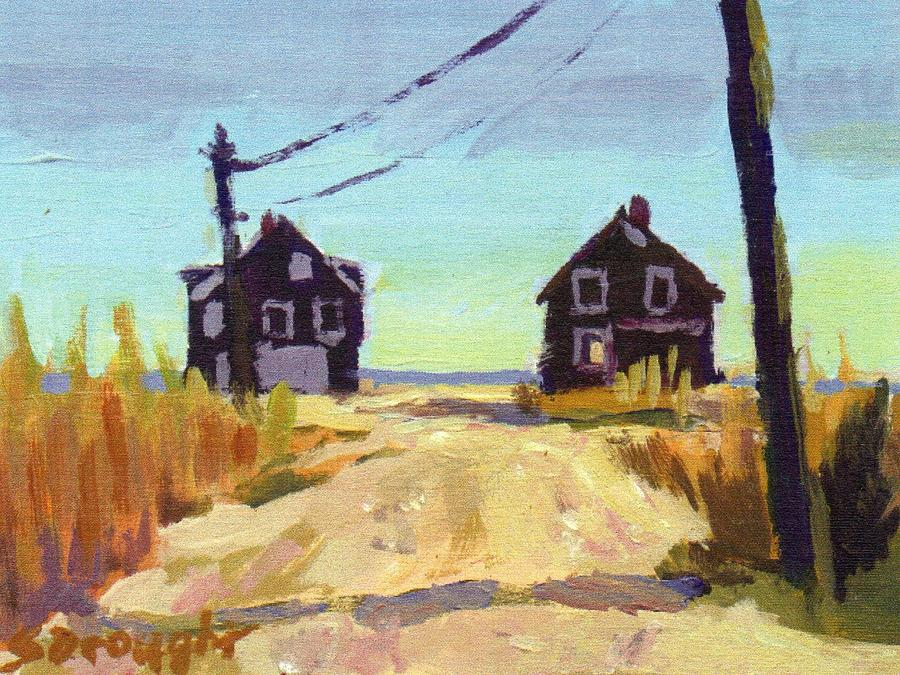 Twin Beach Houses Painting by Sara Drought Nebel