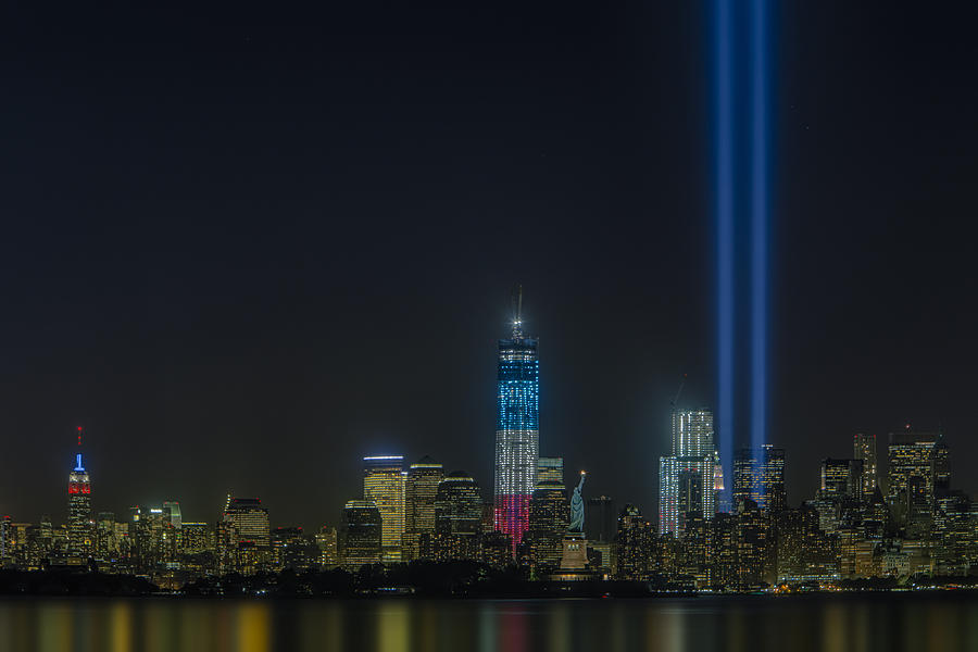Tribute In Light Photograph - Twin Lights by Susan Candelario