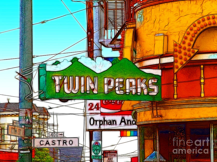 Cityscape Photograph - Twin Peaks Bar In San Francisco by Wingsdomain Art and Photography