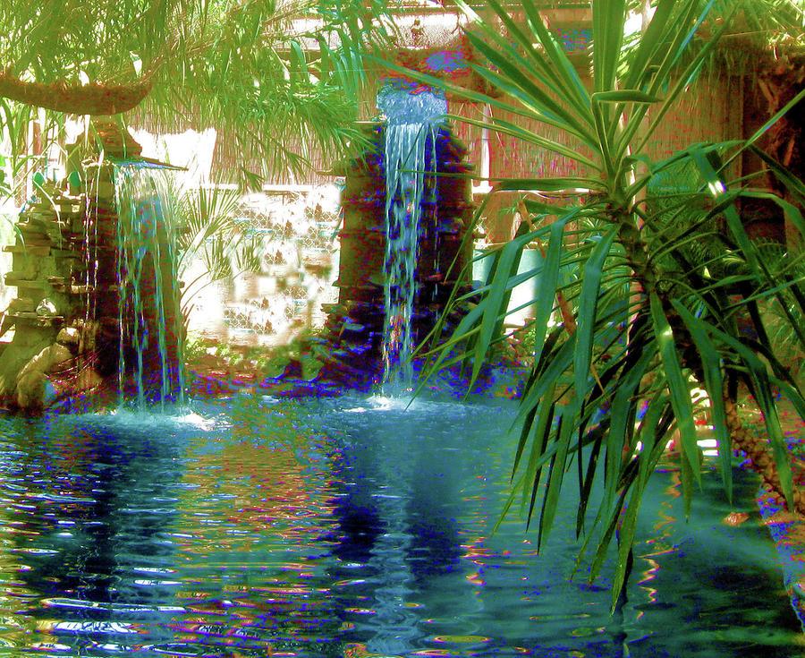 Waterfall Photograph - Twin Zen by Juliana  Blessington