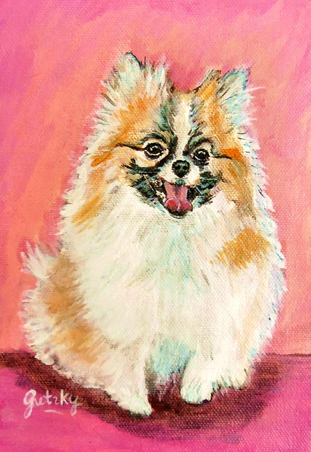 Dog Painting - Twinki Gurl by Paintings by Gretzky