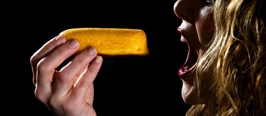 Twinkie Photograph - Twinkie Bite by Scott Sawyer