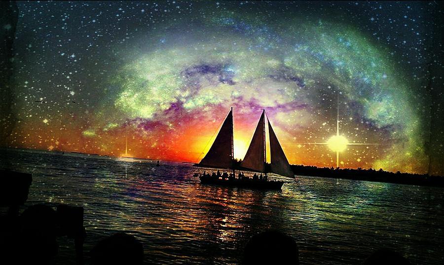 Night Time Digital Art - Twinkle Breeze by Denisse Del Mar Guevara