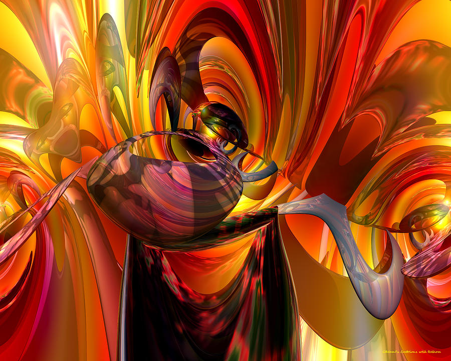 Abstract Digital Art - Twisted Jester Fx  by G Adam Orosco