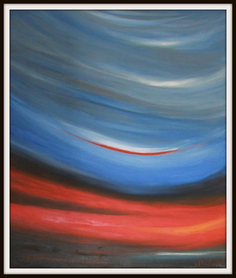 Twisting Painting - Twisting Sunset by Joanna Georghadjis