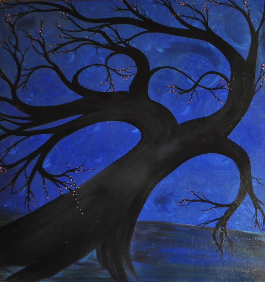 Two Become One Decorative Trees: Two Become One Painting By Tree Girly