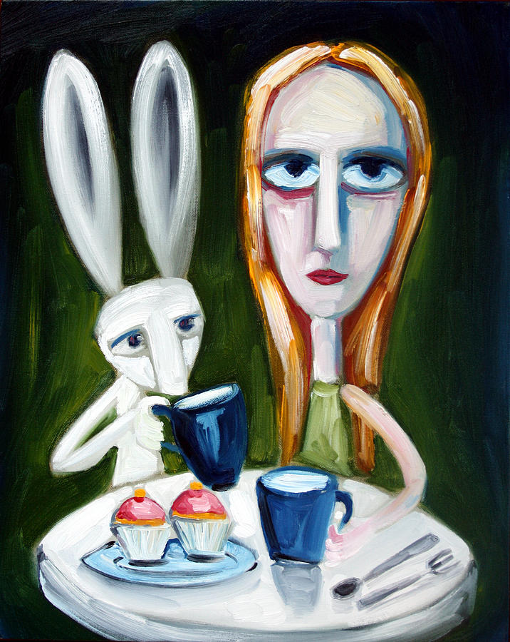 Alice Painting - Two Cup Cakes by Leanne Wilkes