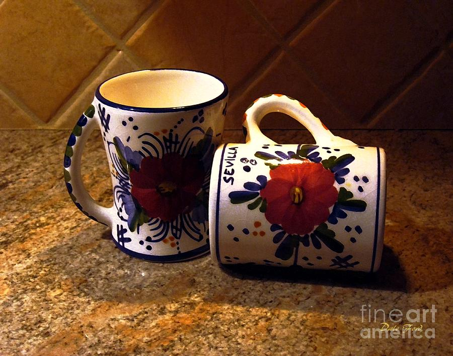 Coffe Cups Digital Art - Two Cups by Dale   Ford