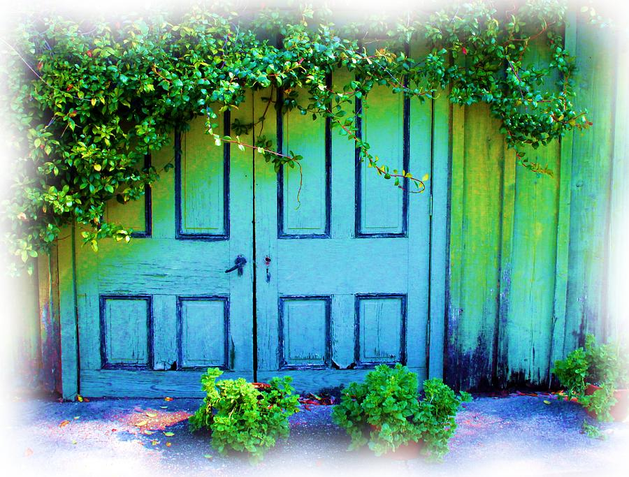 Afton Villa Photograph - Two Doors by Judi Bagwell