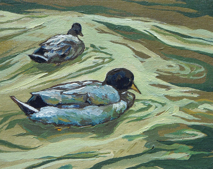 Two Ducks by Sandy Tracey